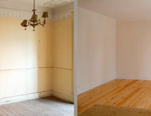 Sala – antes | depois